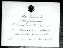 Image of Andrews Apr 20 1933 invitation