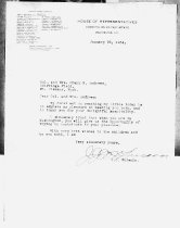 Image of Andrews Jan 22 1934 correspondence