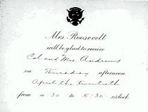 Image of Andrews Eleanor Roosevelt Invite