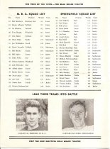 Image of Football Brochure-MBA vs. Springfield