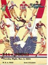 Image of Football Program-MBA vs. Springfield-Nov. 2,1944