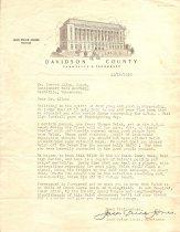 Image of Letter from Jack Price Jones to Coach Howard Allen