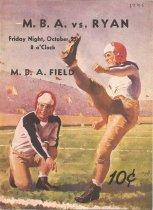 Image of MBA vs. Ryan Football Program Oct. 25, 1946 - October 25, 1946