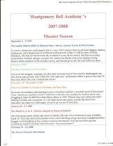 Image of 2007-2008 Season Flyer page 1 - 2007-2008