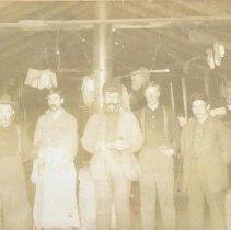 Image of P2002.03.03 - Jim Swanson at logging camp. 1929-1930