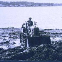 Image of P2006.062.002 - Lodahl & Son bulldozer at Mahtomedi Beach