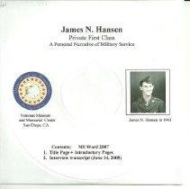 Image of James N. Hansen Oral History  - oral history collection  James N. Hansen