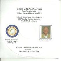 Image of Louis Charles Gerken Oral History - Louis Charles Gerken Oral History WWII StoryCorps program.