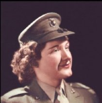 Image of Margaret Rau Peasley, Cpl, USMCR, 1943-1945 - Video oral history of Margaret Rau Peasley, USMCR, 1943-1945.  WWII, bootcamp at Camp Lejeune, NC, Control Tower Operator at MCAS Edenton, NC.  Video DVD, CD data disc. Transcript.