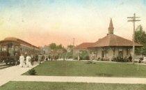 Image of Train station  Aug 31 1920, wrtten to Miss Emma Thilkubaum
