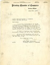 Image of Letter from the Petoskey Chamber of Commerce about Fourth of July