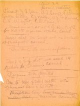 Image of Minutes for the April 29, 1920 meeting of the HS Chamber of Commerce