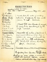 Image of Minutes for the May 24, 1920 meeting of the HS Chamber of Commerce