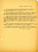 Image of Minutes for the October 9, 1919 meeting of the executive board