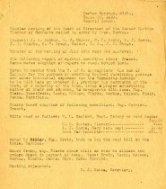 Image of Minutes for the September 26, 1921 meeting of the Board of Directors
