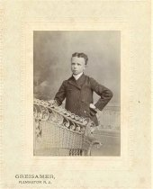 Image of Folder 48 - Young boy standing, formal portrait