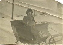 Image of Folder 49 - Young woman in sleigh