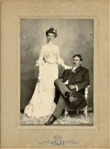 Image of Folder 16 - Charles and Ida (Fink) Bearder, wedding portrait, June 6, 1902
