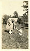 Image of Folder 26 - Ida Bearder at Sand Brook with cat