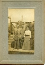 "Image of Folder 216; Photograph of Klett Family, ""Mother, Father, & Guy"", c. 1916"