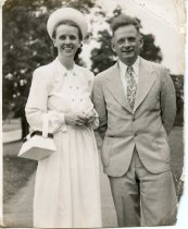 Image of Folder 241; Catharine and Guy Klett, outside, n.d.