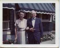 Image of Folder 247; Catharine and Guy Klett, outside home, n.d.