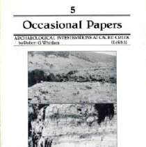 Image of Book - Archaeological Investigations at Cache Creek