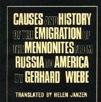 Image of Causes and History of the Emigration of the Mennonites from Russia