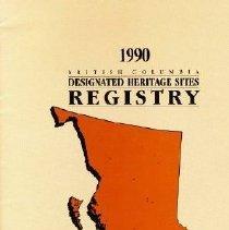 Image of Book - British Columbia Designated Heritage Sites Registry