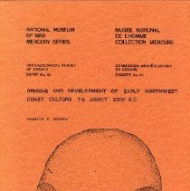 Image of Book - Origins and Development of Early Northwest Coast Culture to About 3000 B.C.
