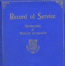 Image of Book - Record of Service, University of British Columbia, 1914-1918