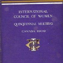 Image of Book - International Council of Women: Quinquennial Meeting Canada 1909