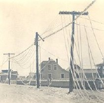 Image of Print, Photographic - Photograph of Yale Road during ice storm