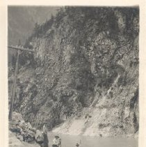 Image of Print, Photographic - Surveyors at work, Fraser Canyon, BC