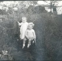 Image of Negative, Glass-plate - Two children