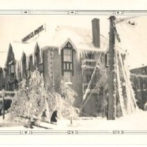 Image of Print, Photographic - Empress Hotel during ice storm