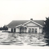 Image of Print, Photographic - Flooded house during the flood of 1948