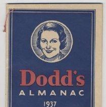 Image of Booklet, Dodd's Almanac - 1990.003.001