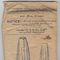 Image of Pattern, Skirt - 1991.022.0022