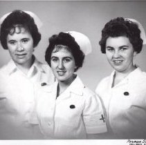 Image of Print, Photographic - Three nursing graduates