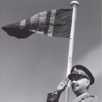 Image of Print, Photographic - Col. Smith last salute to troops