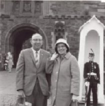 Image of Print, Photographic - BC teachers visiting Edinburgh Castle in Scotland