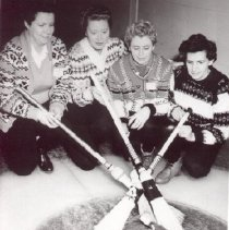 Image of Print, Photographic - Irene Edna Norrish and Curling Teammates