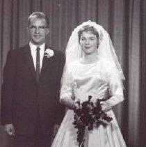 Image of Print, Photographic - Mr. & Mrs. Elmer Guenther (nee Martha Janzen)