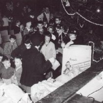 Image of Print, Photographic - Christmas assembly