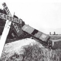 Image of Print, Photographic - Train Accident