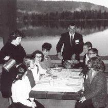 Image of Print, Photographic - Church of the Nazarene Youth Breakfast at Cultus Lake