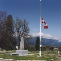 Image of Print, Photographic - Colour photograph of the Canadian Legion Cemetary on Little Mountain.