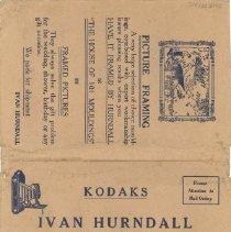 Image of Envelope - Ivan Hurndall photograph envelope for Mrs. Chell