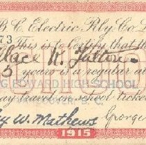 Image of Ticket - BC Electric Railway Co. Ticket